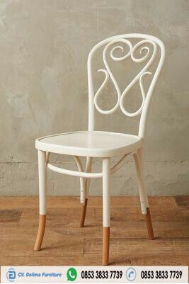 Unique Backrest Wooden Cafe Chair Classic